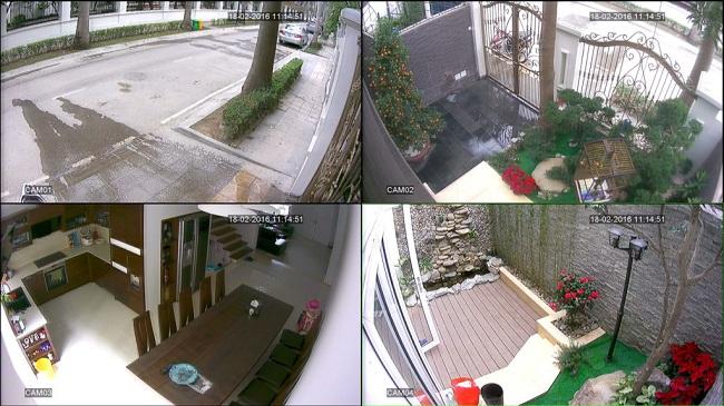 Lắp camera cho nhà chị Đào