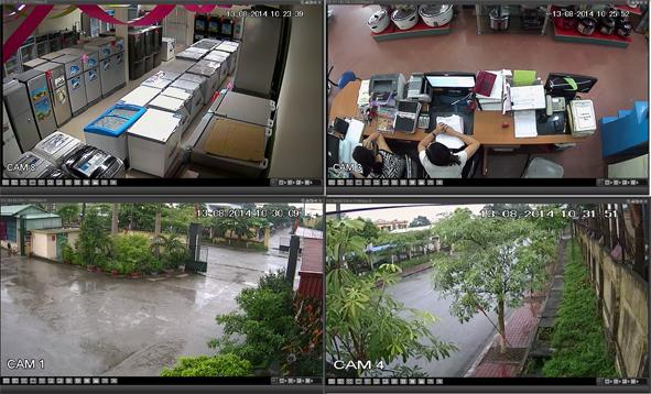 Lắp camera tại cửa hàng điện lạnh
