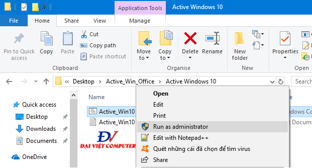 Active win 10 pro bằng CMD