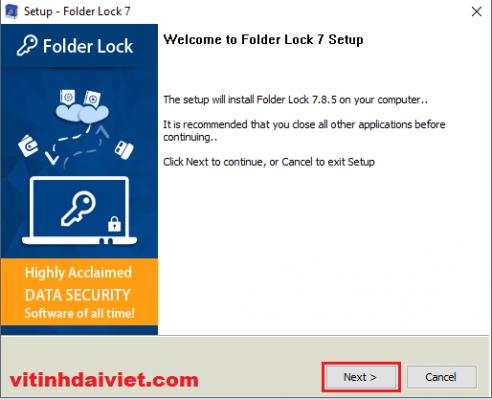 Tải phần mềm Folder Lock